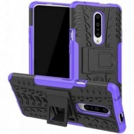 Coque pour One plus 7 Pro Anti chocs stand béquille noir / violet
