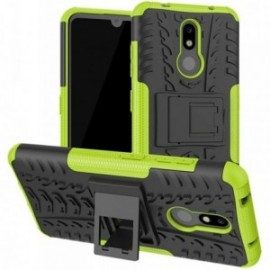 Coque pour Nokia 3.2 Anti chocs stand béquille noir / vert