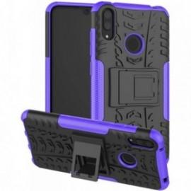 Coque pour Huawei Y7 2019 / Y7 Prime 2019 Anti chocs stand béquille noir / violet