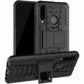 Coque pour Huawei Psmart 2019 / Honor 10 lite Anti chocs stand béquille noire