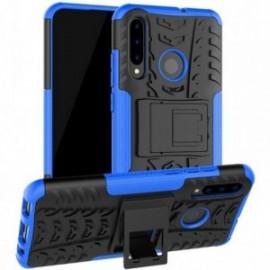 Coque pour Huawei Psmart 2019 / Honor 10 lite Anti chocs stand béquille bleue / noir