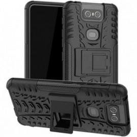 Coque pour Asus Zenfone 6 ZS630KL Anti chocs stand béquille noire