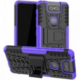 Coque pour Asus Zenfone 6 ZS630KL Anti chocs stand béquille violet / noir