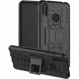 Coque pour Huawei Y5 2019 Anti chocs stand béquille noire