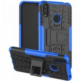 Coque pour Alcatel A3 Anti chocs stand béquille noir / bleu