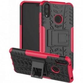 Coque pour Alcatel A3 Anti chocs stand béquille noir / rose