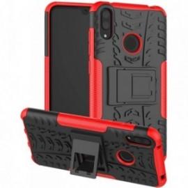 Coque pour Alcatel A3 Anti chocs stand béquille noir / rouge