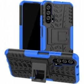 Coque pour Huawei Honor 20 Anti chocs stand béquille bleu / noir