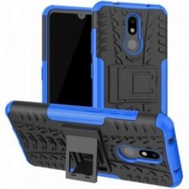 Coque pour Nokia 2.2 Anti chocs stand béquille noir / bleu
