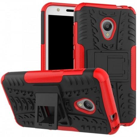 Coque pour Alcatel U5 Anti chocs stand béquille rouge / noir