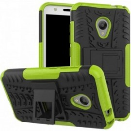 Coque pour Alcatel U5 Anti chocs stand béquille vert / noir