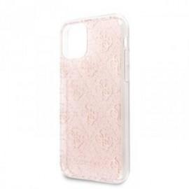 Coque pour Iphone 11 guess 4g paillette rose
