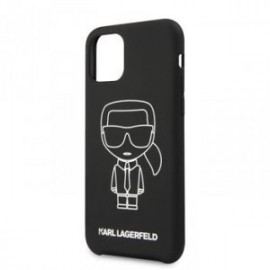 Coque pour Iphone 11 Pro Max Karl Lagerfeld Ikonik outline blanc
