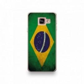 Coque pour Wiko View 3 motif Drapeau Brésil Vintage