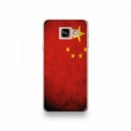 Coque pour Wiko View 3 motif Drapeau Chine Vintage
