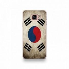 Coque pour Wiko View 3 motif Drapeau Corée Du Sud Vintage