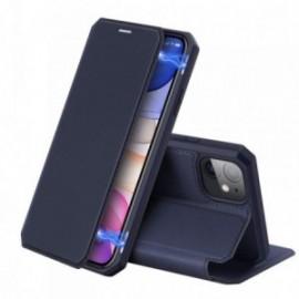Etui pour Iphone 11 Pro Max 6,5' folio stand bleu
