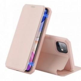 Etui pour Iphone 11 Pro Max 6,5' folio stand rose
