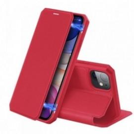 Etui pour Iphone 11 Pro Max 6,5' folio stand rouge