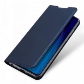 Etui pour Moto G8 Plus folio stand bleu