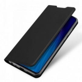 Etui pour Moto G8 Plus folio stand noir
