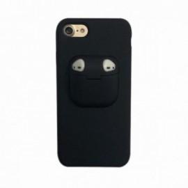 Coque pour Iphone 7/8 avec étui earpods noir
