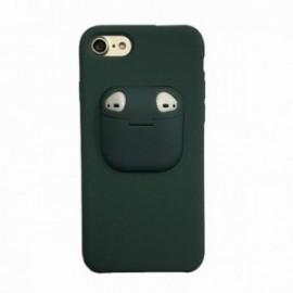 Coque pour Iphone 7/8 avec étui earpods vert