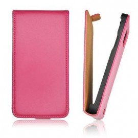 Etui HTC 8S slim cuir rose
