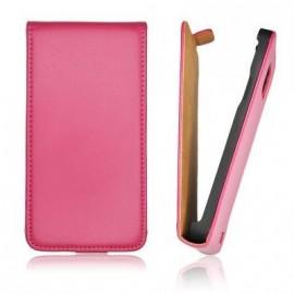 Etui HTC 8S slim cuir rose