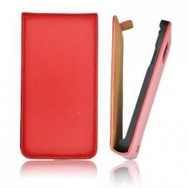 Etui HTC 8S slim cuir rouge