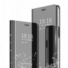 Etui pour Xiaomi Note 8T Folio stand miroir noir