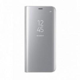 Etui pour Xiaomi Note 8T Folio stand miroir argent