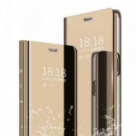 Etui pour Xiaomi Note 8T Folio stand miroir or