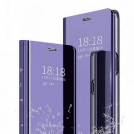 Etui pour Xiaomi Note 8T Folio stand miroir violet