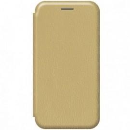 Etui pour Xiaomi MI NOTE 10 folio stand magnétique or