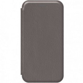 Etui pour Xiaomi MI NOTE 10 folio stand magnétique argent