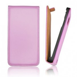 Etui iphone 4 slim cuir violet