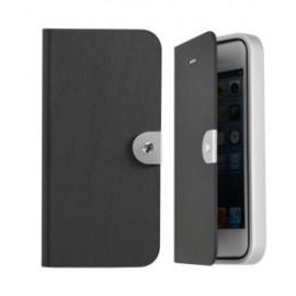 Etui Iphone 5 / 5s / SE Swarovski folio noir
