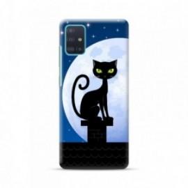 Coque pour Samsung A51 personnalisée motif Cat night