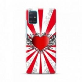 Coque pour Samsung A51 personnalisée motif Coeur love