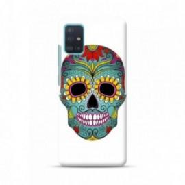 Coque pour Samsung A51 personnalisée motif Crane fleuri