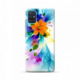 Coque pour Samsung A51 personnalisée motif Fleurs bleues