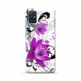 Coque pour Samsung A51 personnalisée motif Fleurs mauves
