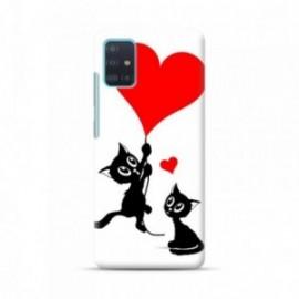 Coque pour Samsung A51 personnalisée motif Love cat