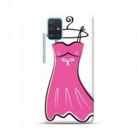 Coque pour Samsung A51 personnalisée motif Robe rose