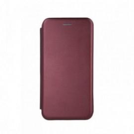 Etui pour iPhone 11 folio stand magnétique bordeaux