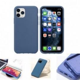 Coque pour Samsung S20 Plus soft touch bleue