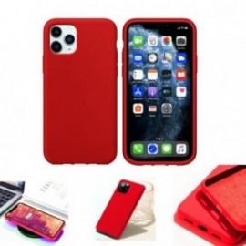 Coque pour Samsung S20 Plus soft touch rouge
