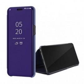 Etui pour Oppo Reno 10X Zoom Folio stand miroir violet