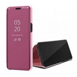 Etui pour Oppo A5 2020 Folio stand miroir rose